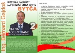 BYtčan.sk - Kandidát na primátora mesta Ing. Bernard Gajdoš