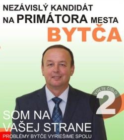 Bytčan.sk - Kandidát na Primátora Ing. Bernard Gajdoš