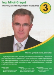 Bytčan.sk - kandidát na primátoira mesta Ing. Miloš Greguš