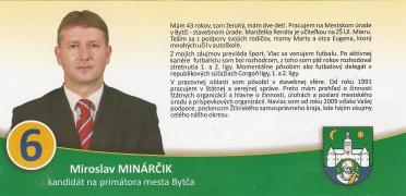 Bytčan.sk - kandidát na primátora Miroslav Minarčík