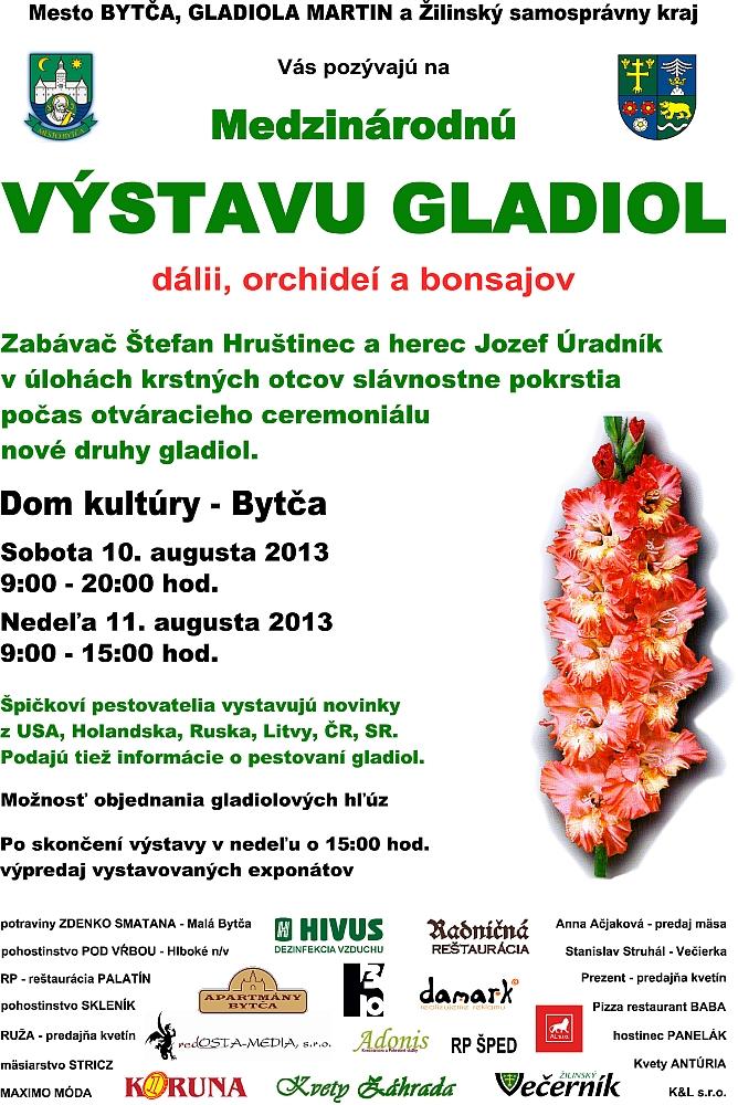 Pozvánka na výstavu Gladiol Bytča